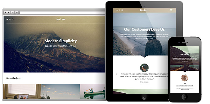Beckett WordPress Theme