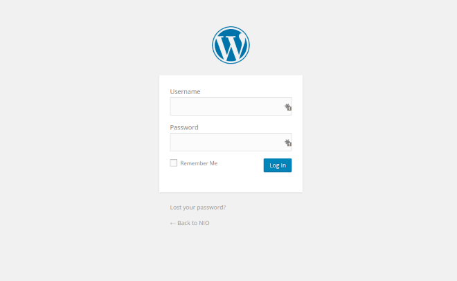 default login wordpress