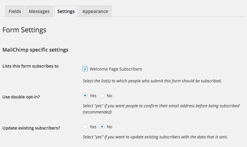 how to create a form in mailchimp