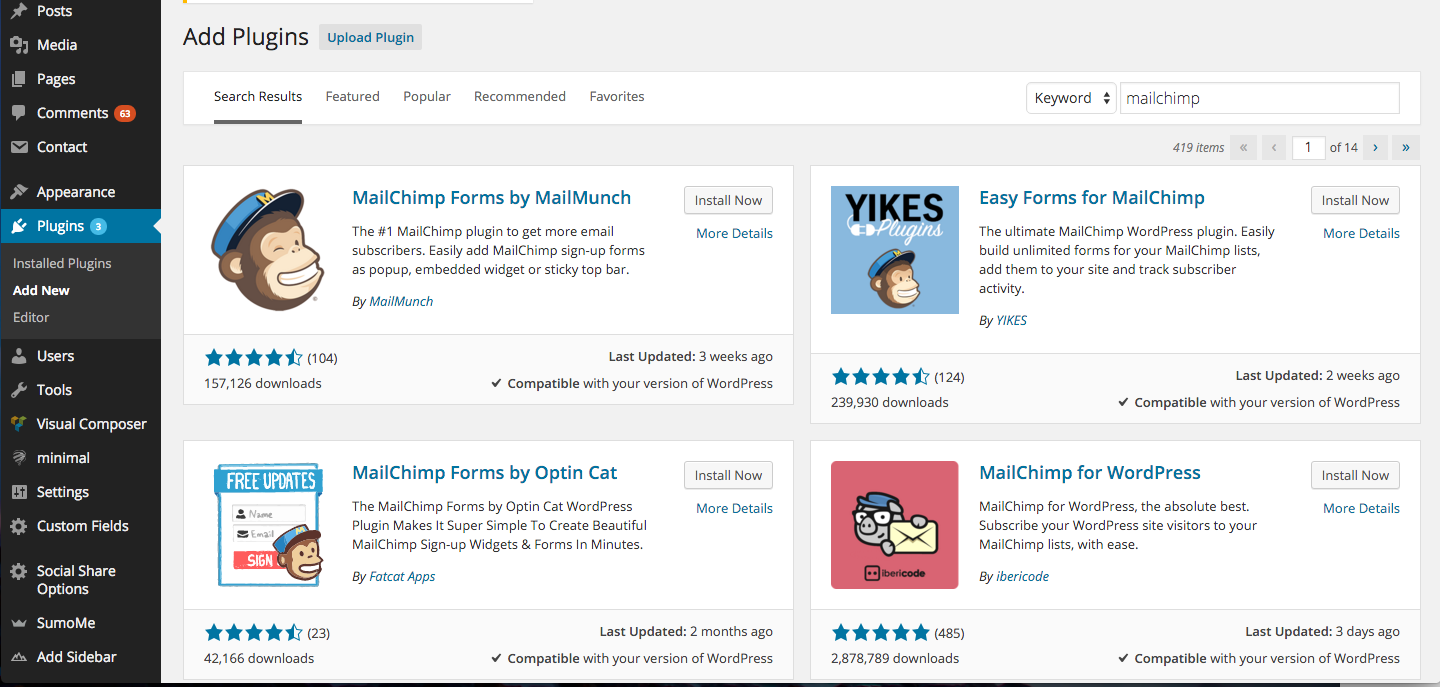 how to use mailchimp with wordpress themetrust