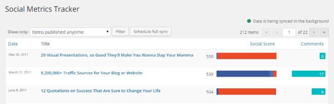 social metrics tracker demo