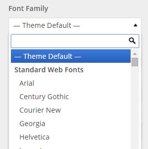 font-family list