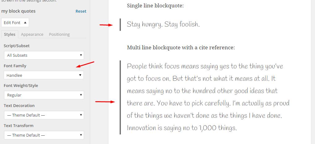 new blockquotes