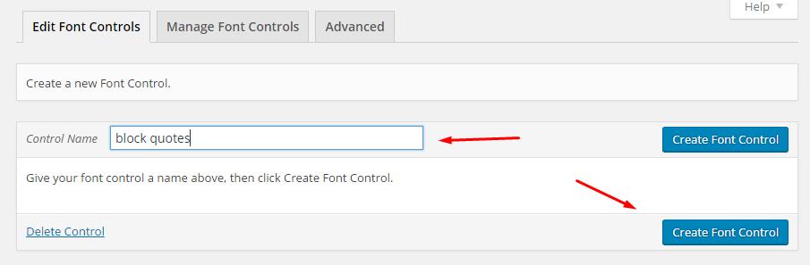 new font control