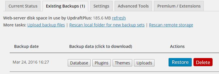 existing-backups