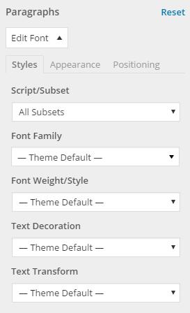 font-options