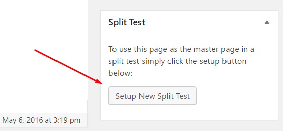 setup A/B test in WordPress