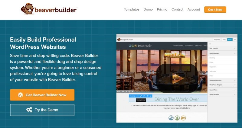 Drag-and-drop content builder plugins (premium): Beaver Builder