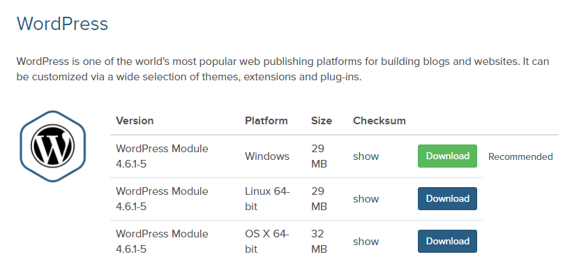 get WP installable