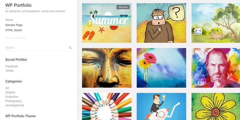 wp portfolio theme