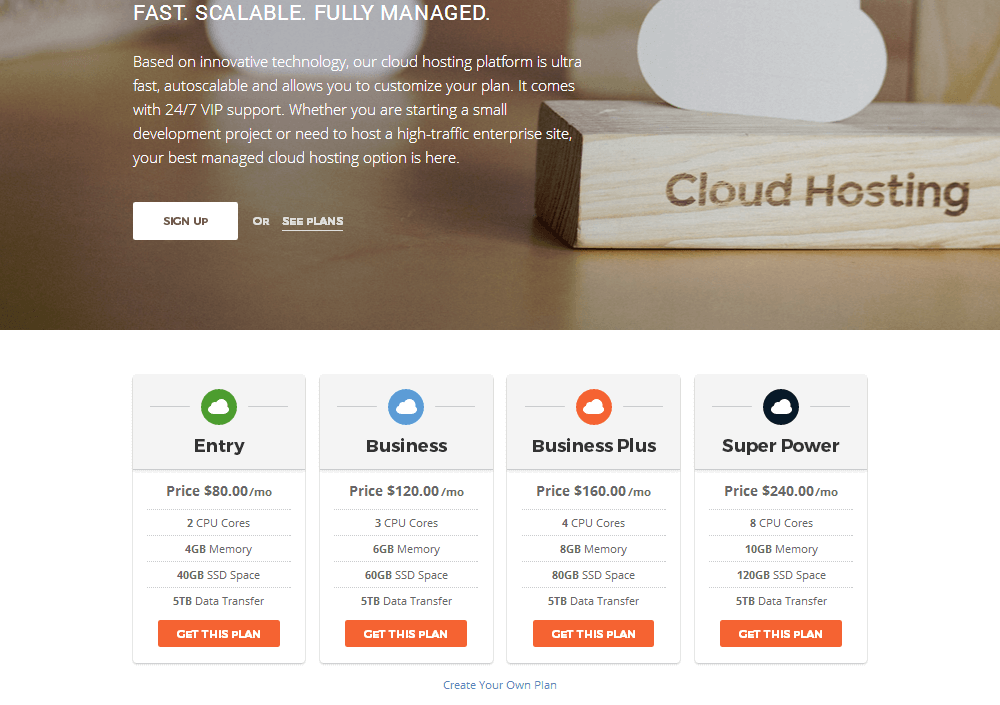 SiteGround - Cloud Hosting Plans