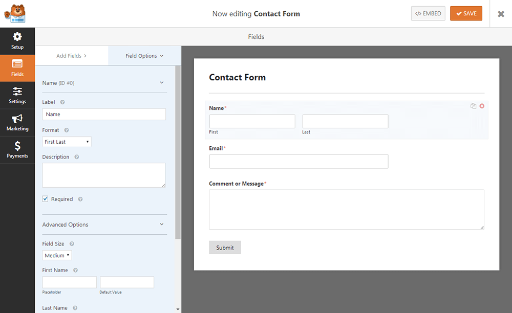 WPForms - Field Options