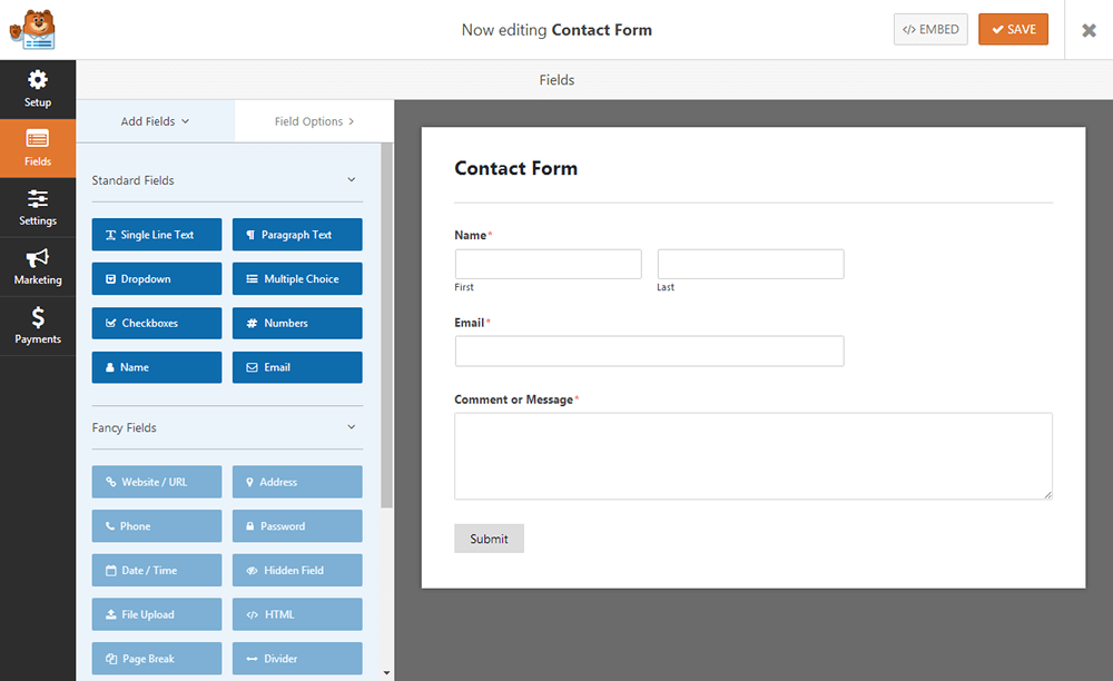 WPForms - Simple Contact Form Template